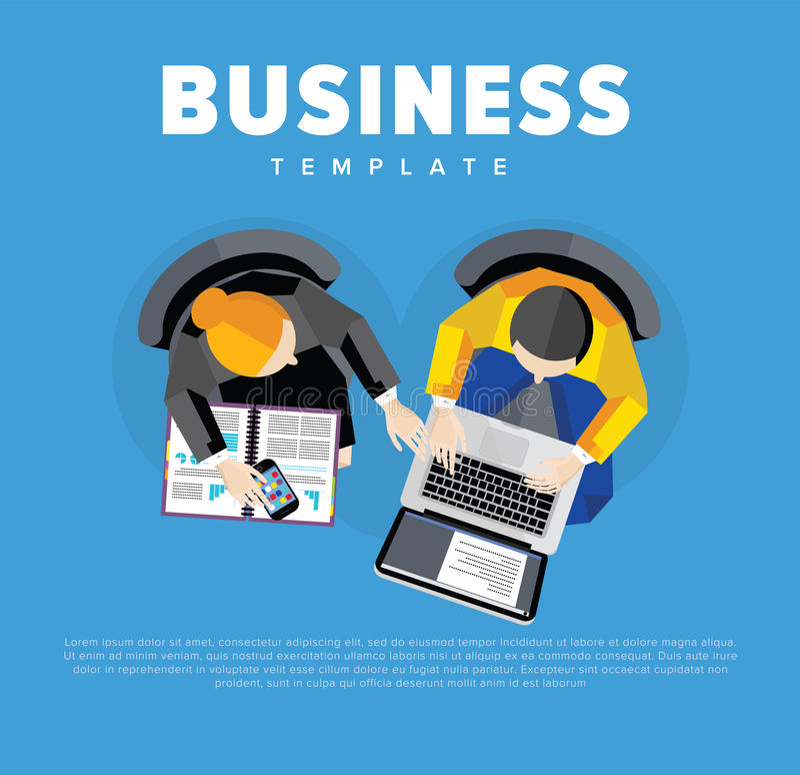 абстрактные переговоры бизнеса моделя 3d над взглядом бесплатная иллюстрация