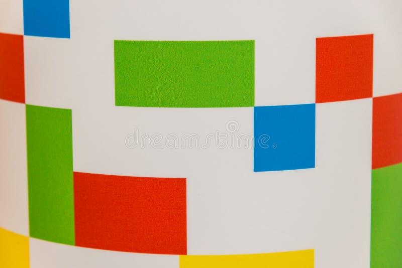 Абстрактные пестротканые прямоугольники на белой предпосылке иллюстрация вектора