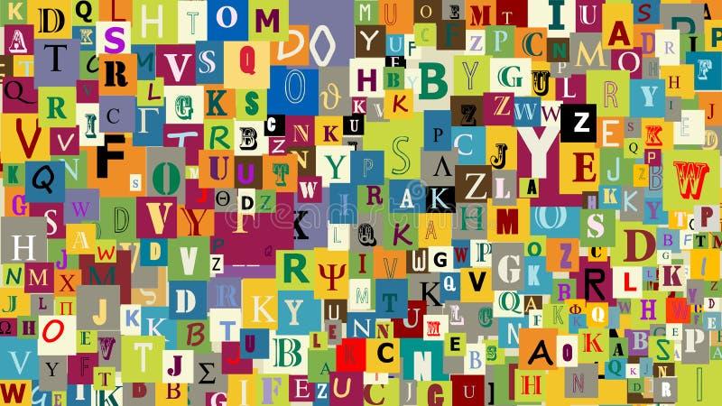абстрактные письма предпосылки бесплатная иллюстрация