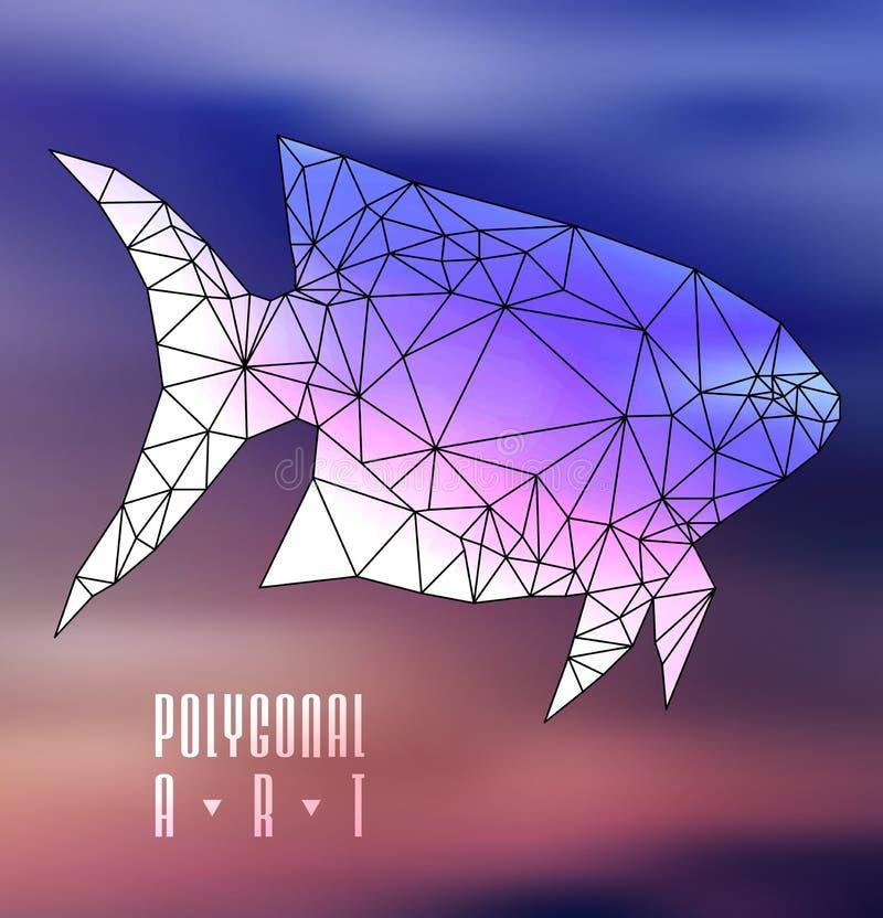 Абстрактные полигональные рыбы иллюстрация штока