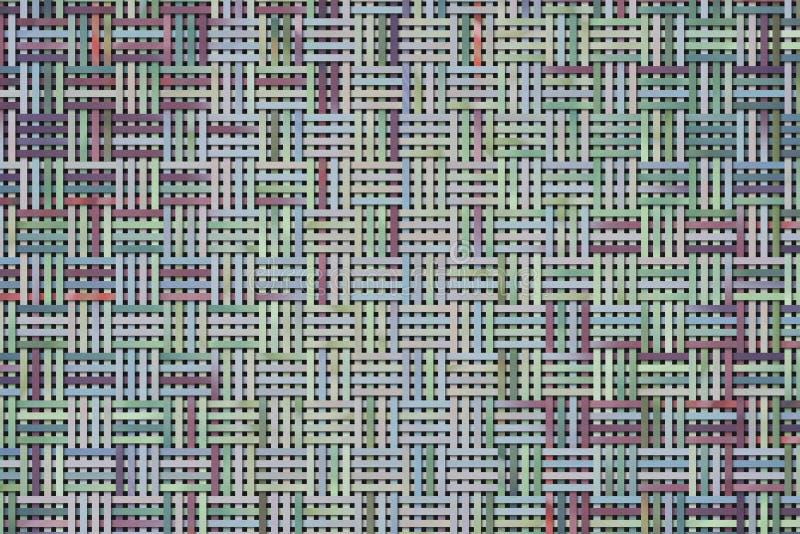 Абстрактные предпосылка или текстура для дизайна, ротанга сплетенная циновка иллюстрация вектора
