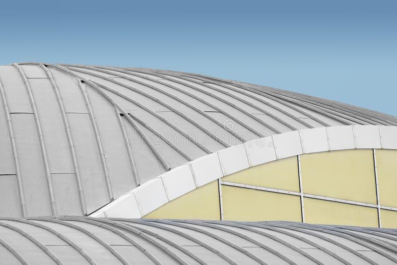 Абстрактные предпосылка и архитектура Некоторая геометрия с линиями, archs с пустым космосом экземпляра стоковое фото rf