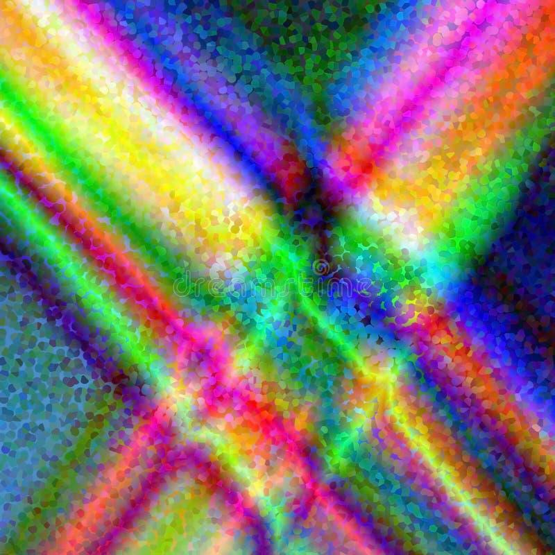 Абстрактные предпосылка и текстура радуги психоделический tracery стоковые фотографии rf
