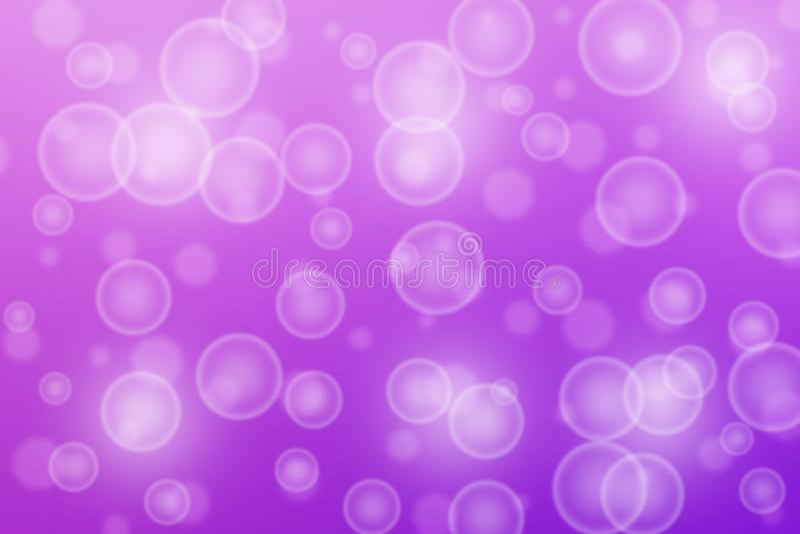 Абстрактные пузыри и Bokeh в пурпурной предпосылке стоковые фотографии rf