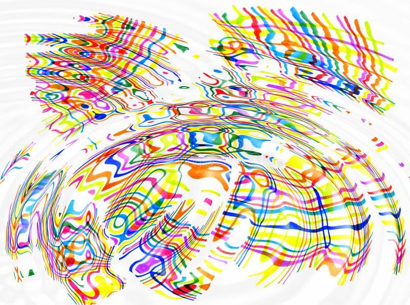 Абстрактные пятна цвета и линии предпосылка пульсаций иллюстрация вектора