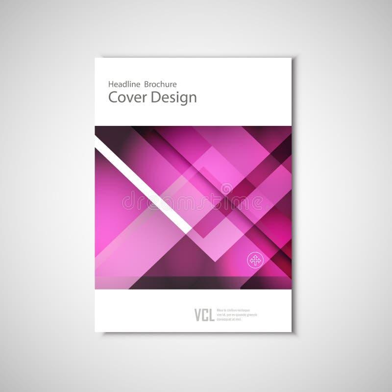 Абстрактные рогульки брошюра вектора, годовой отчет, современные шаблоны Дизайн для представлений дела иллюстрация вектора