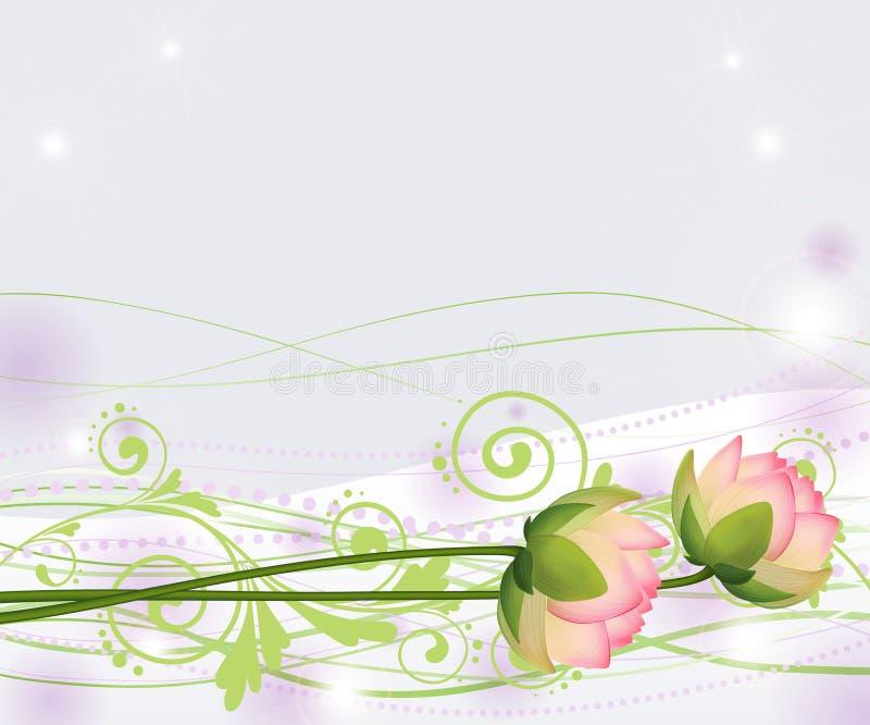 Абстрактные розовые цветки лотоса, лилии, вектор стоковое фото rf