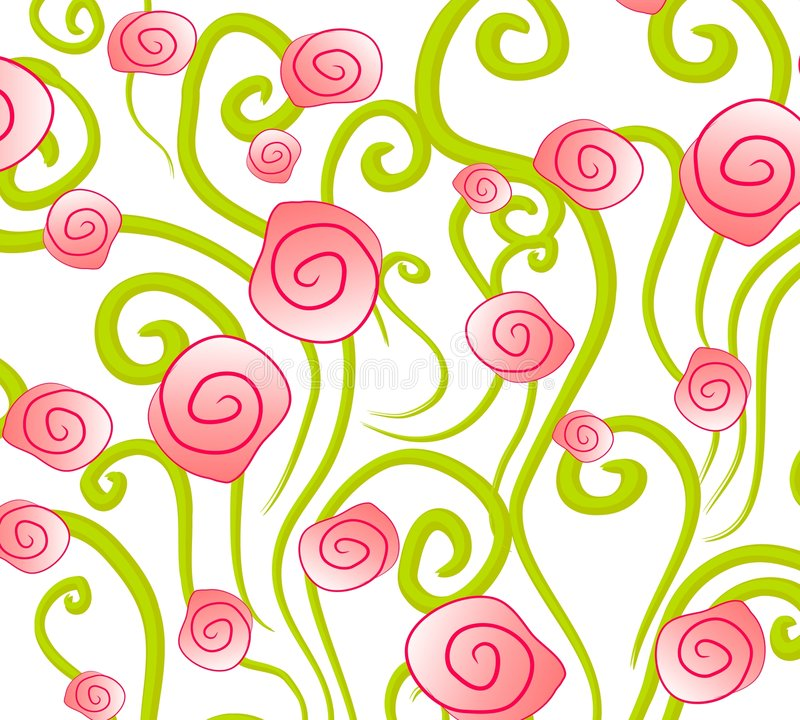 абстрактные розы пинка предпосылки иллюстрация вектора