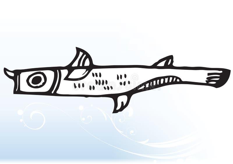 абстрактные рыбы шаржа иллюстрация вектора