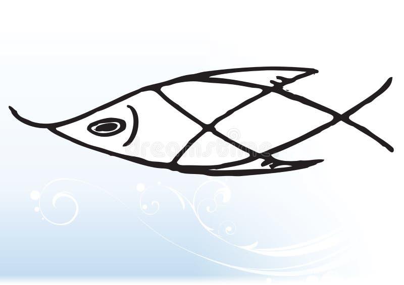 абстрактные рыбы иллюстрация вектора