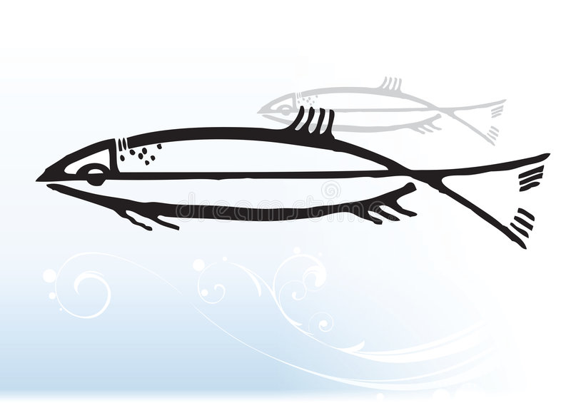 абстрактные рыбы иллюстрация штока