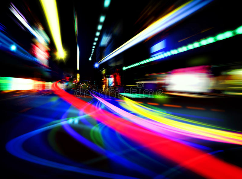 абстрактные света города стоковое изображение rf
