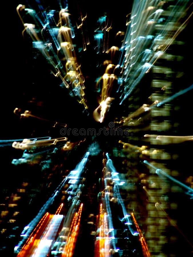 абстрактные света зданий стоковые фотографии rf