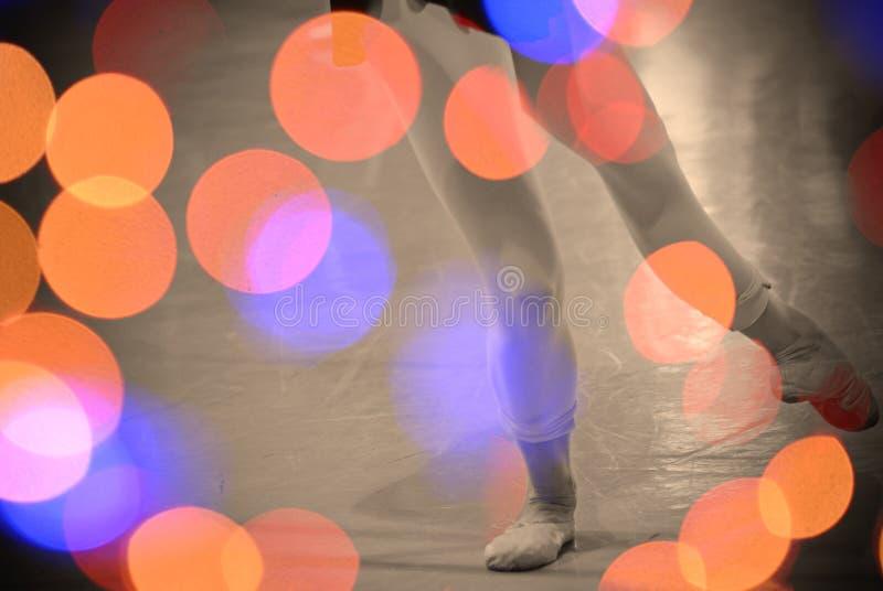 Абстрактные света и танцор стоковое фото