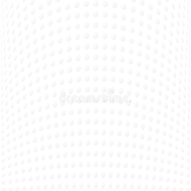 Абстрактные серые точки польки кривой на белой предпосылке иллюстрация вектора