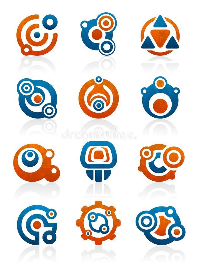 абстрактные символы икон соплеменные иллюстрация вектора