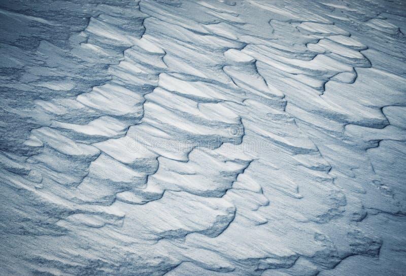 Абстрактные смещения снега стоковое изображение