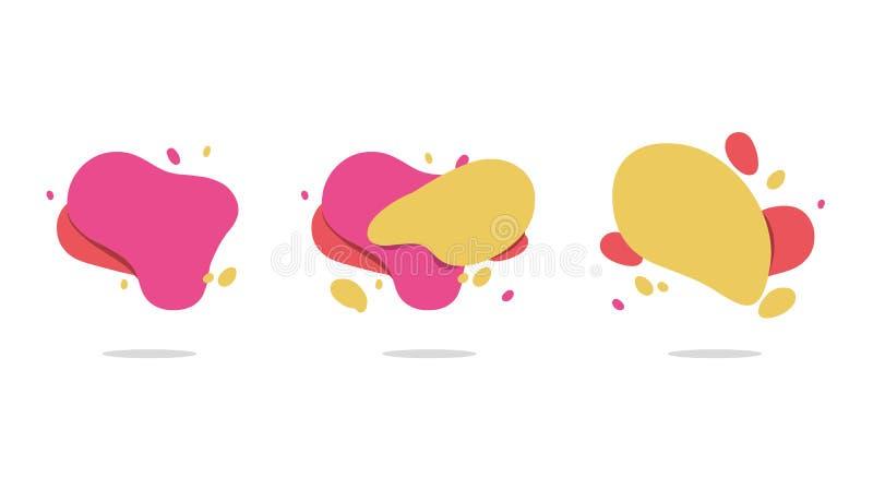 Абстрактные современные графические элементы вектор комплекта сердец шаржа приполюсный Художнический дизайн крышек иллюстрация вектора