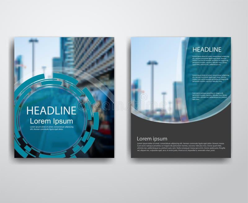 Абстрактные современные рогульки брошюра, шаблоны дизайна годового отчета иллюстрация вектора