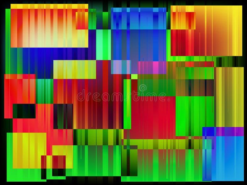 Абстрактные современные цвета придают квадратную форму с разрушенной предпосылкой влияния шальной психоделической бесплатная иллюстрация