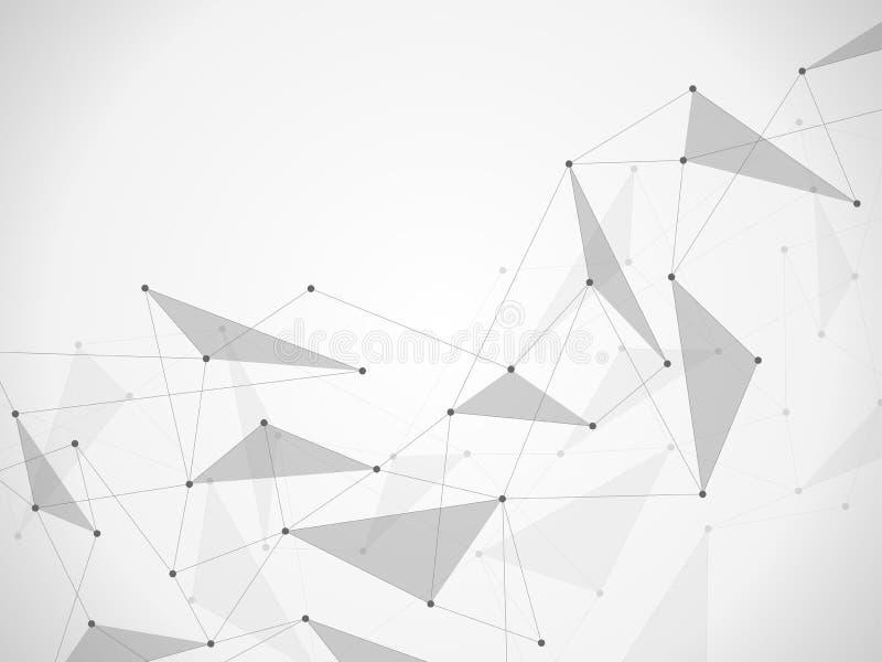 Абстрактные соединяясь точки и линии Предпосылка науки и техники соединения также вектор иллюстрации притяжки corel бесплатная иллюстрация