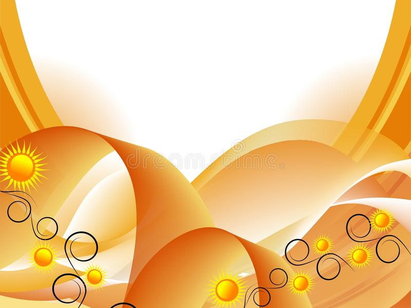 абстрактные солнцецветы предпосылки иллюстрация штока