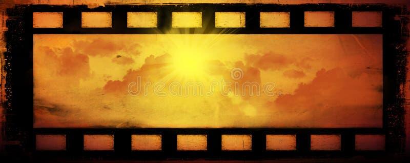 Абстрактные солнце и облака, предпосылка иллюстрация штока