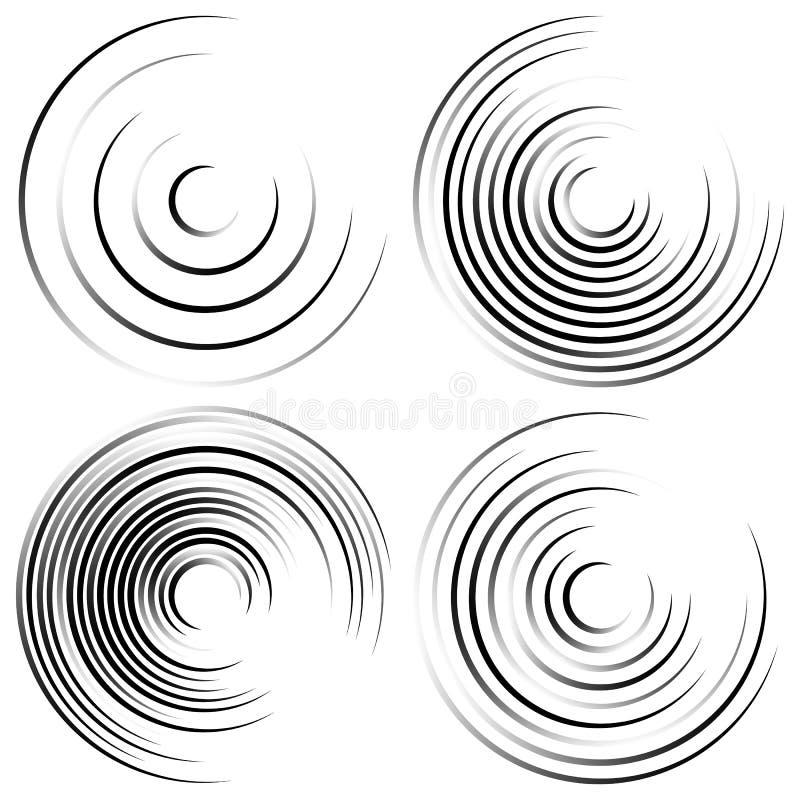 Download Абстрактные спиральные формы - спирально, завихряясь круговой комплект элемента Иллюстрация вектора - иллюстрации насчитывающей крен, катушка: 81812509