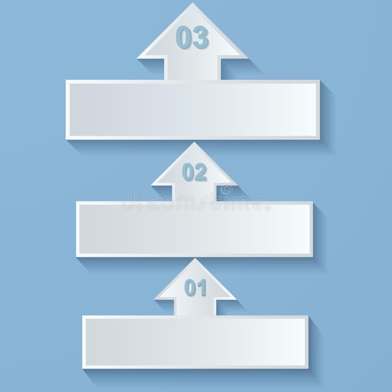 Абстрактные стрелки вверх. Бумажное infographics. бесплатная иллюстрация