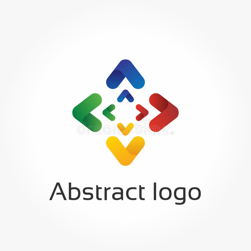Абстрактные стрелки, шаблон логотипа вектора, элемент дизайна направления иллюстрация вектора