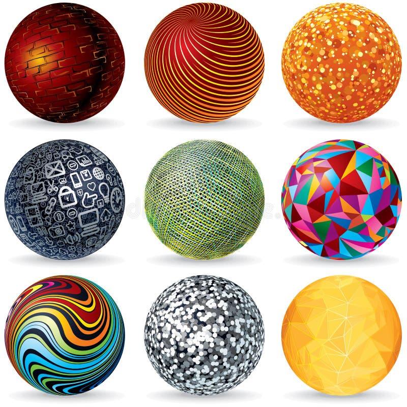 Абстрактные сферы вектора 3D Идея проекта иллюстрация штока