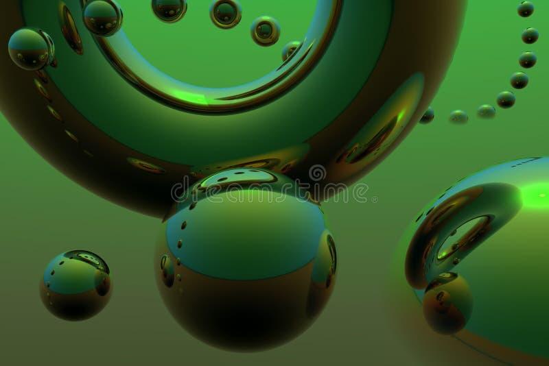 абстрактные сферы летания состава иллюстрация вектора