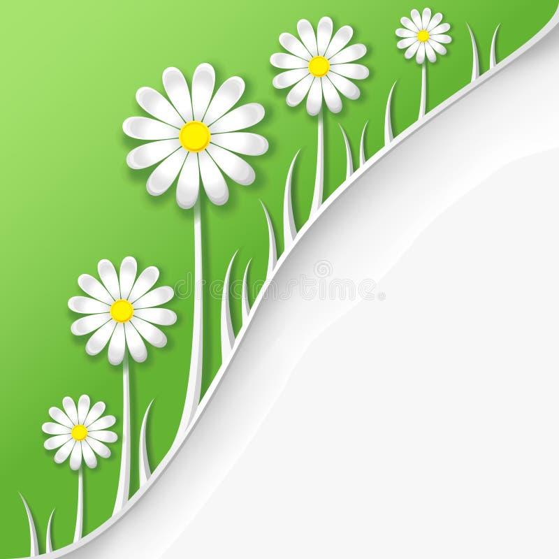 Абстрактные творческие весна или предпосылка лета иллюстрация штока