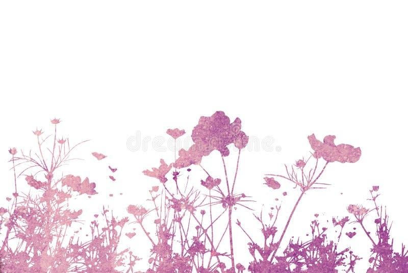 абстрактные текстуры цветка иллюстрация вектора