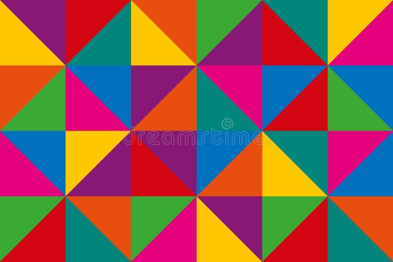 Абстрактные треугольники вектора, красочная геометрическая предпосылка иллюстрация штока