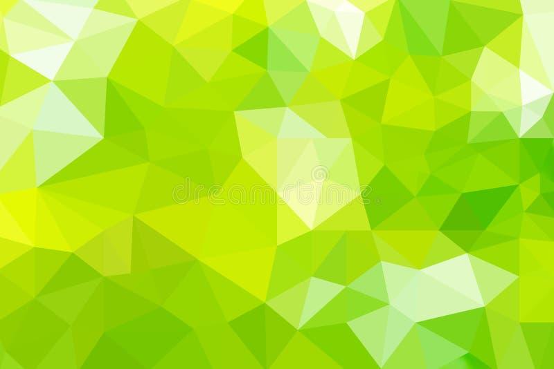 Абстрактные треугольники: зеленый градиент для фона геометрический стиль бесплатная иллюстрация