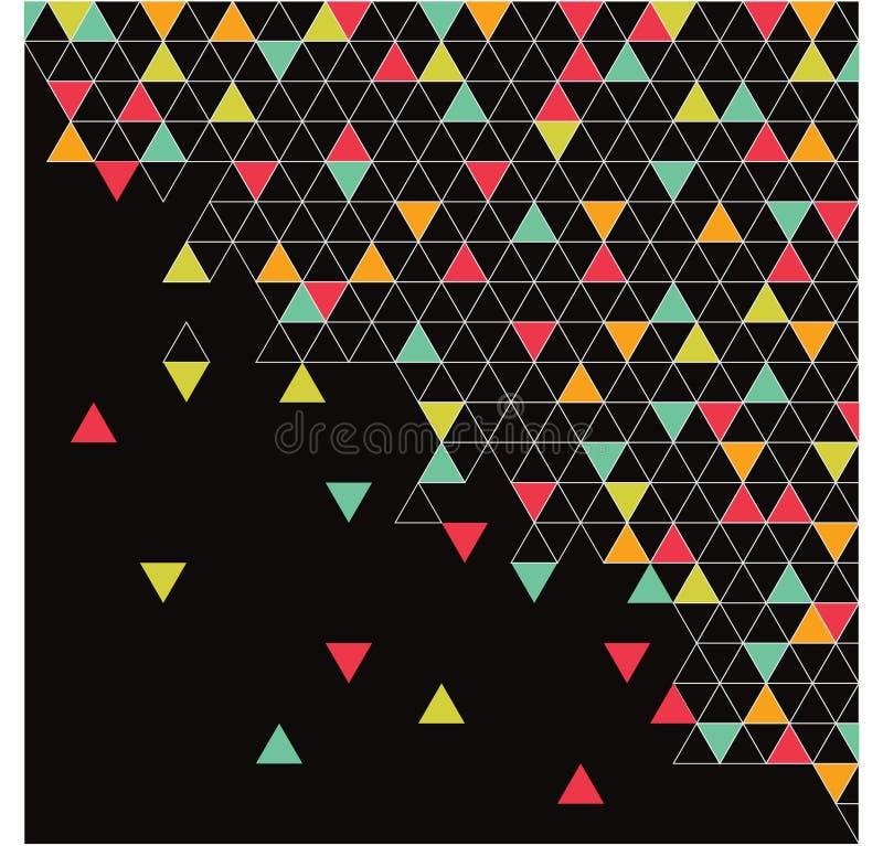 Абстрактные треугольники, предпосылка стоковое изображение rf