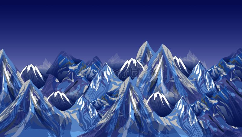 Абстрактные утесы или гора вектора также вектор иллюстрации притяжки corel иллюстрация штока