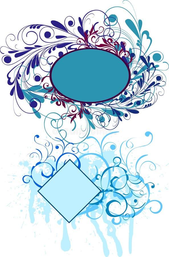 абстрактные флористические рамки бесплатная иллюстрация