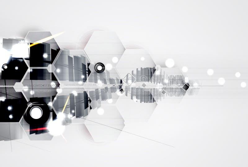 Абстрактные футуристические увядают предпосылка дела компьютерной технологии стоковое фото rf