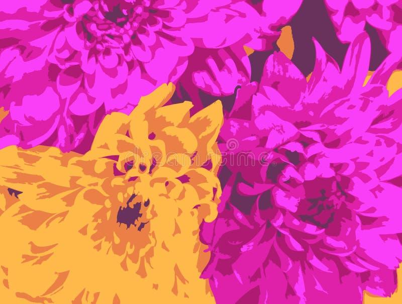 абстрактные хризантемы бесплатная иллюстрация