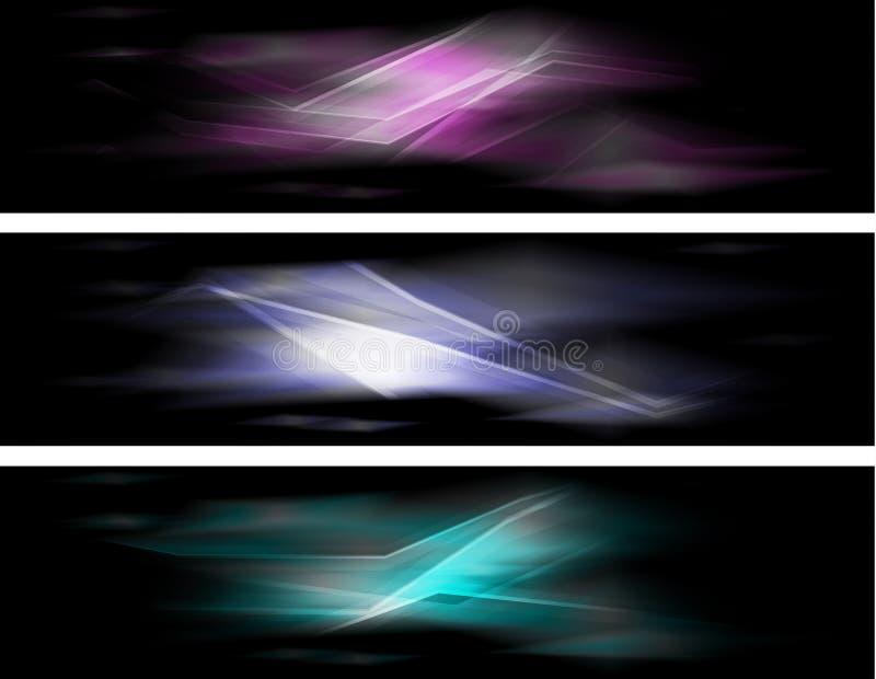 Абстрактные цветастые знамена иллюстрация вектора