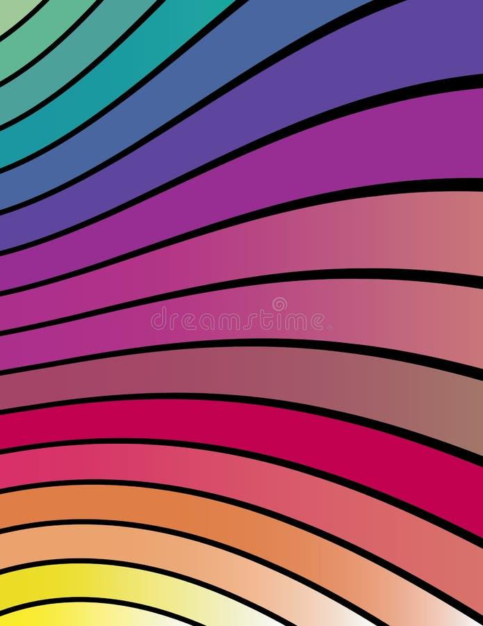 абстрактные цветастые линии волнистые стоковые фотографии rf