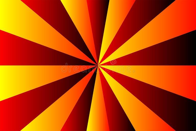 Абстрактные цвета картины sunburst, желтого цвета градиента, красных и черных луча Иллюстрация вектора, EPS10 геометрическая карт иллюстрация штока