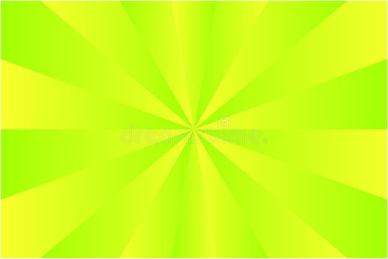 Абстрактные цвета картины sunburst, салатовых и желтых луча Иллюстрация вектора, EPS10 геометрическая картина бесплатная иллюстрация