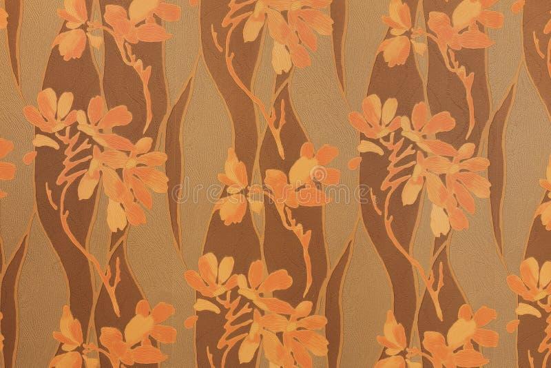 Абстрактные цветки на конкретном цементе огораживают текстуру предпосылки стоковая фотография rf