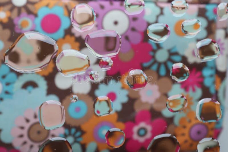 Абстрактные цветки отображают масло на стеклянном изображении текстуры искусства стоковое изображение