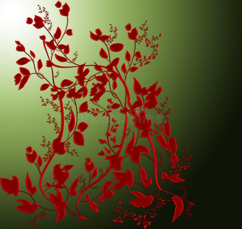 абстрактные цветки иллюстрация штока