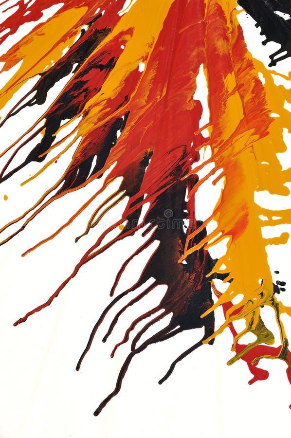 Абстрактные цветы масла выплеска иллюстрация штока