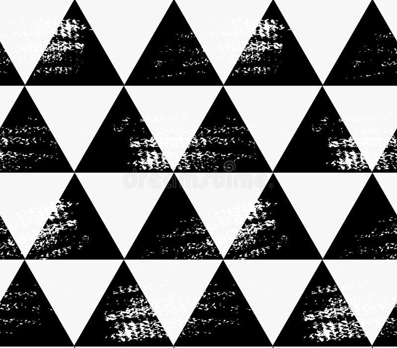 Абстрактные черные треугольники с grunge бесплатная иллюстрация